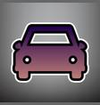car sign violet gradient vector image