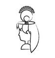 cartoon woman head icon vector image
