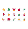 celebration decoration happy christmas icons vector image vector image