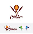 chicken restaurant logo design vector image vector image