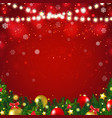 christmas postcard with firtree border vector image