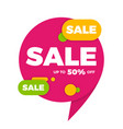 colorful speech bubble sale design banner price vector image vector image