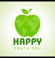 Creative Happy Earth Day Greeting stock vector image vector image