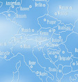 Creative map of Europe vector image vector image