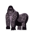 cute gorilla animal trend cartoon style vector image vector image