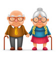 cute smile happy elderly couple old man love woman vector image vector image