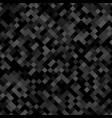 dark grey square pattern background - geometrical vector image vector image