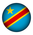 Democratic Republic of the Congo flag button vector image vector image