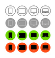 Different style trendy interface icons set vector image