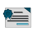 diploma or certificate icon image vector image vector image