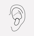 ear icon line element of ear vector image