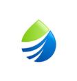 eco water drop abstract bio logo vector image