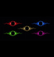 electric lightning circle with color glow effect vector image vector image