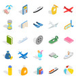 expensive toy icons set isometric style vector image vector image