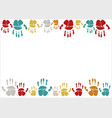 family handprints family vector image vector image