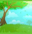 fantasy woodland landscape artistic cartoon vector image