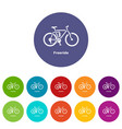 freeride bike icon simple style vector image vector image