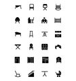 Furniture Solid Icons 4 vector image vector image