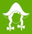 girl dutch icon green vector image vector image