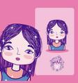 girl power cartoon vector image