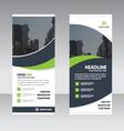 Green curve business roll up banner flat design