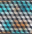 grunge rhombus geometric pattern vector image vector image