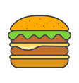 hamburger or cheeseburger isolated icon vector image vector image