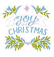 holiday card made hand lettering joy christmas vector image vector image