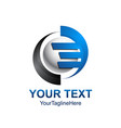initial letter e logo template colored grey blue vector image vector image