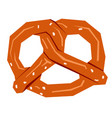 isolated geometric pretzel vector image vector image