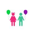 Kids Icon vector image