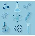 Laboratory workspace elements icons vector image vector image