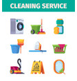 laundry service washing tools cleaning items vector image