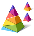 layered pyramids vector image vector image