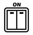 light switch icon simple style vector image