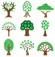 logo icons tree vector image vector image