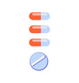 meds pill drugs composition vector image