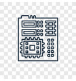 motherboard concept linear icon isolated on vector image