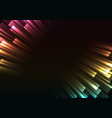 multicolor overlap stripe rush in dark background vector image vector image