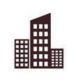 office building icon vector image vector image