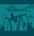 oil pump drilling in the field industry vector image vector image