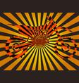 optical of volume with moto bike vector image vector image