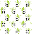 panda pattern2 vector image vector image