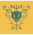 Panther head in frame vector image vector image