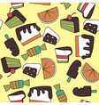 Pattern of candy vector image vector image