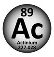 periodic table element actinium icon vector image vector image