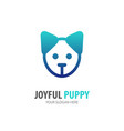 puppy logo for business company simple puppy vector image