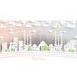 sanaa yemen city skyline in paper cut style vector image vector image