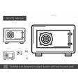security safe line icon vector image vector image