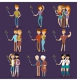 Selfie shots family and couples vector image vector image